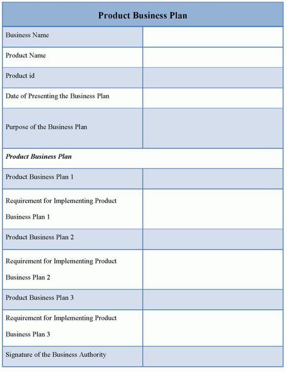 Business Plan Template Download Editable Product Business Plan - Business plan template download