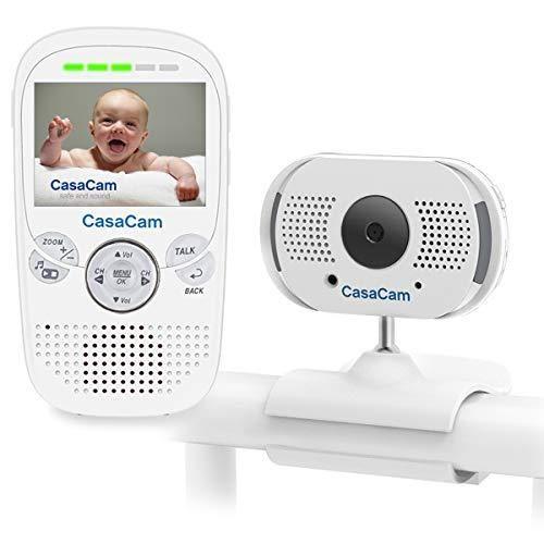Casacam Bm100 Video Baby Monitor With 2 3 Lcd Monitor And Digital Clipcam Two Way Audio Automatic Night In 2020 Video Monitor Baby Baby Monitor Baby Camera Monitor