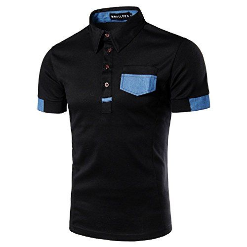 What Lees Mens Urban Casual Basic Short Sleeve Golf Polo Shirts