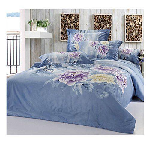 Cotton Active Floral Printing Quilt Duvet Sheet Cover Sets 2 0m 2 2m Bed Size 64 Cotton Bedding Sets Duvet Covers Cheap Quilted Duvet