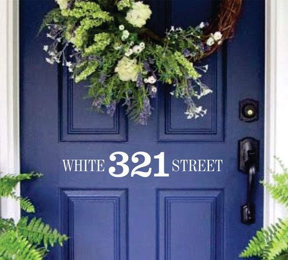 Front Door Address and Street Number wall decal Mailbox Decal on Etsy, $12.00