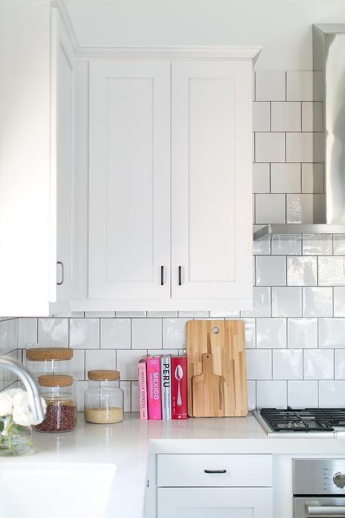 Timeless Kitchen Includes White Shaker Cabinets White Quartz