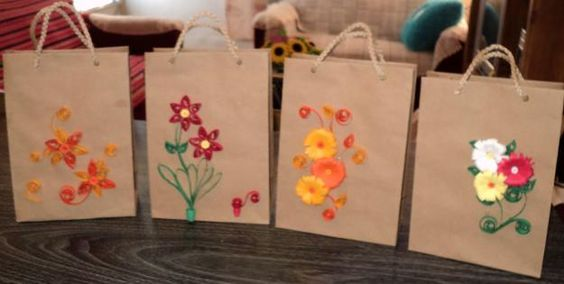 Bolsas de papel con detalles o decoraci n filigrana - Bolsas para decorar ...