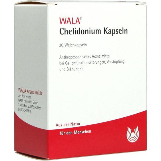 CHELIDONIUM KAPSELN:   Packungsinhalt: 30 St Kapseln PZN: 01448062 Hersteller: WALA Heilmittel GmbH Preis: 8,54 EUR inkl. 19 % MwSt.…
