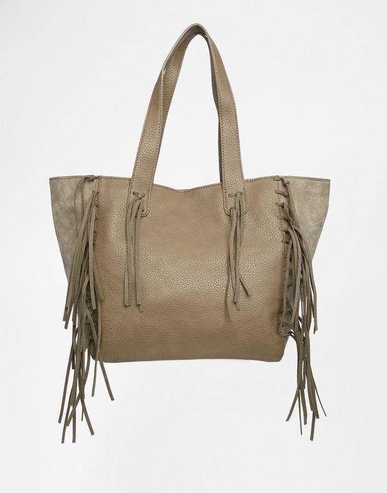 Image 1 ofUrban Originals Fringed Shopper Bag