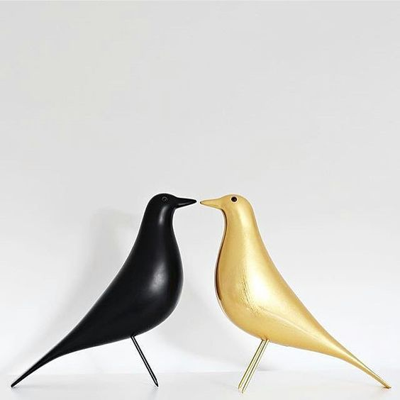 eames bird black and gold the eameshouse bird classic and gold edition eames. Black Bedroom Furniture Sets. Home Design Ideas