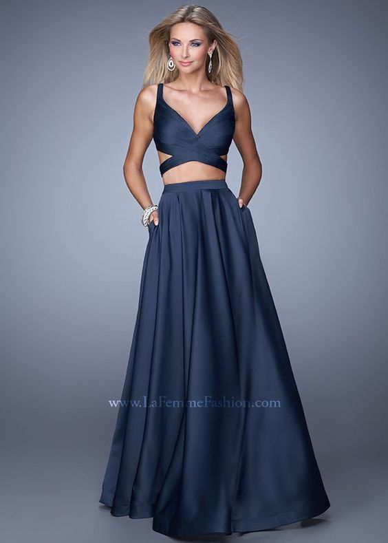 La Femme 21178 2 Piece Evening Gown