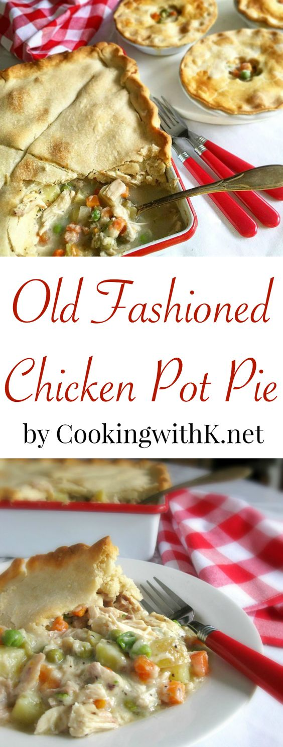 Chicken pot pies, Pot pies and Southern kitchens on Pinterest