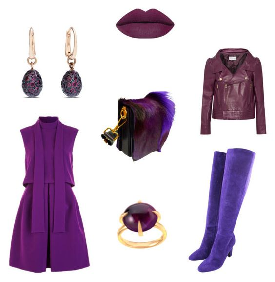 """""""Purple bag"""" by perfectforyou ❤ liked on Polyvore featuring Sportmax, Tom Ford, Tamara Mellon, RED Valentino, Pomellato, women's clothing, women, female, woman and misses"""