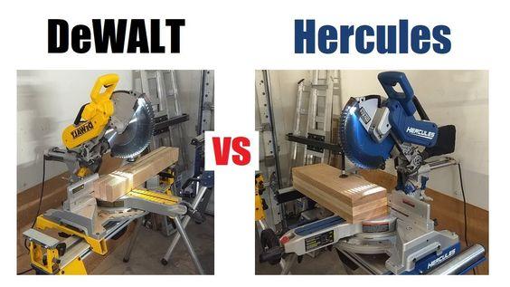 Hercules Vs Dewalt Miter Saw Review Harbor Freight Bringing The Heat Miter Saw Reviews Dewalt