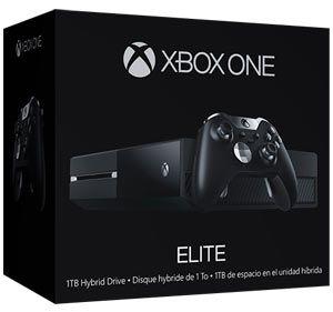 Xbox One Elite - Console Xbox One con SSHD da 1 TB - Controller Wireless Elite per Xbox con un set di 4 levette posteriori, 6 joystick, 2 croci direzionali e un cavo USB - Custodia di trasporto del Controller Wireless Elite per Xbox  Gioca da professionista con il Bundle #XboxOne Elite. Raddoppia la tua capacità di memorizzazione di giochi, inclusi i titoli per Xbox 360, con l'unità SSHD da 1 TB. Entra in azione il 20% più rapidamente dalla modalità risparmio energetico.