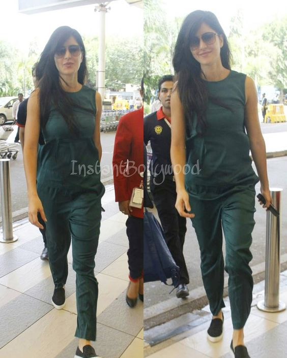 The very cool and casual Katrina Kaif spotted at the airport earlier today…