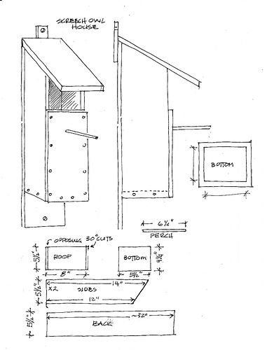 Screech Owl house plans by young@art, via Flickr