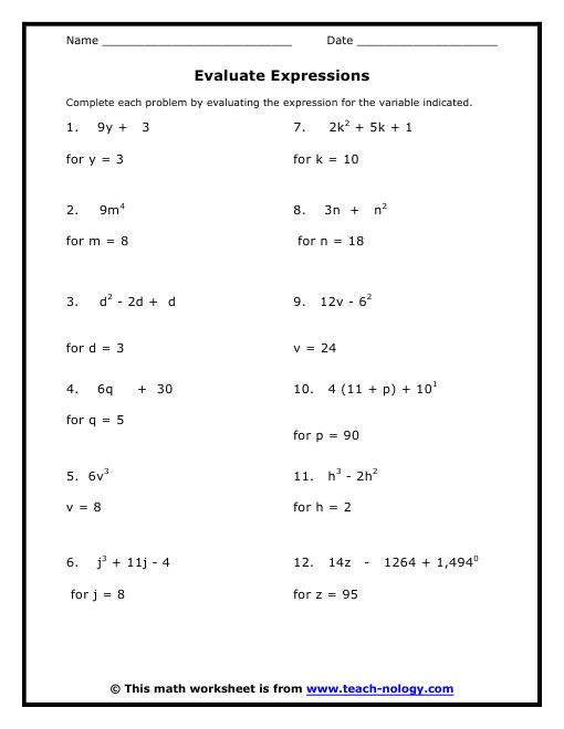 Printables Math Worksheet 8th Grade 7th grade math worksheets value absolute for 8 standard met working with expressions