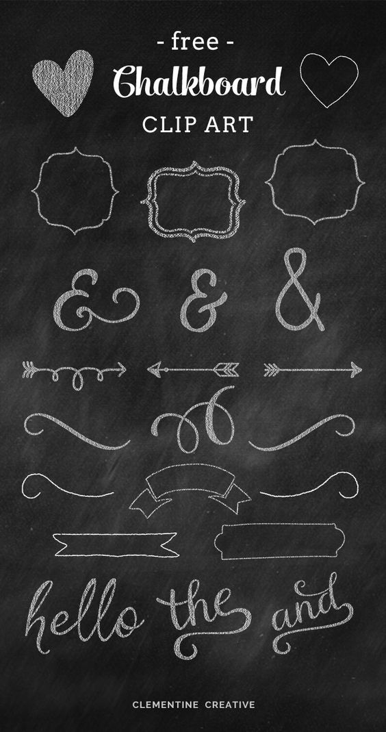 free chalkboard clip art for your blog or creative projects!