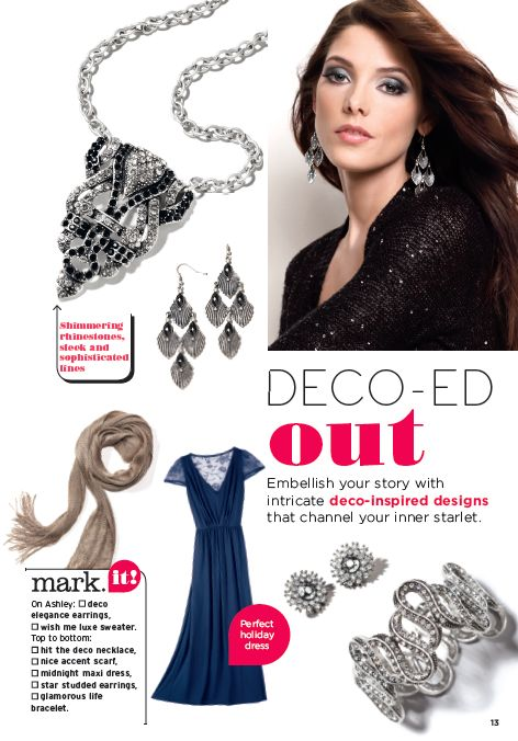 fall trend 2012:   deco 'd out  shimmery touches and graphic lines make an artistic statement with this trend