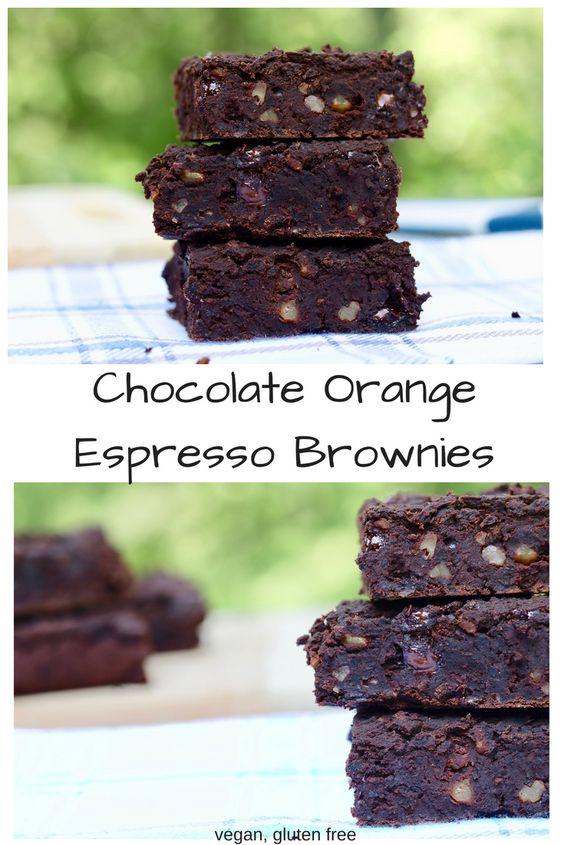Chocolate Orange Espresso Brownies The Cheeky Chickpea Coffee