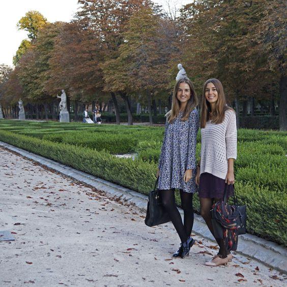 Decimos sí a los vestiditos con medias y Oxfords en otoño  We say yes to little dresses with tights and Oxfords in Fall