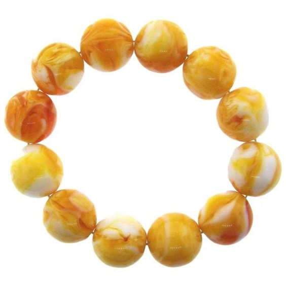 Pre-owned Baltic Amber Bracelet ($810) ❤ liked on Polyvore featuring jewelry, bracelets, preowned jewelry, amber jewelry, ball jewelry, pre owned jewelry and amber bangle
