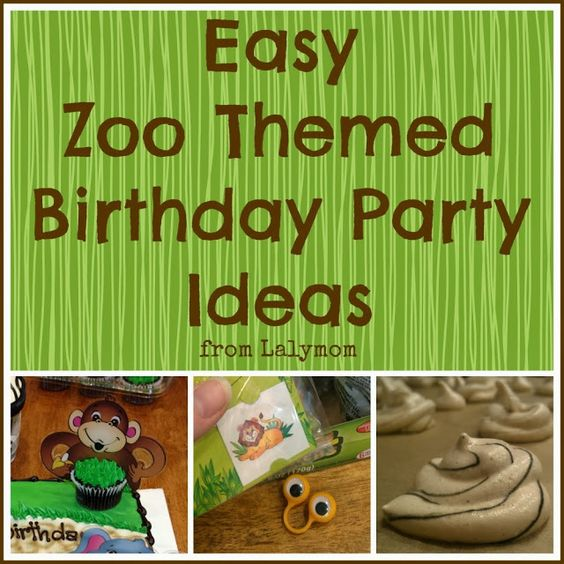 Easy Zoo Theme Birthday Party Ideas