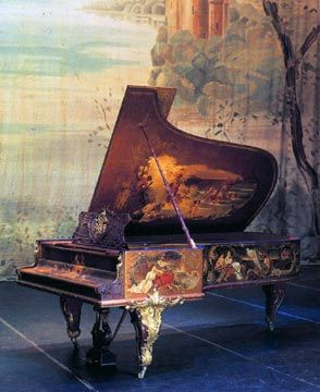 This grand piano was a gift to Empress Alexandra Feodorovna from her husband, Nicholas