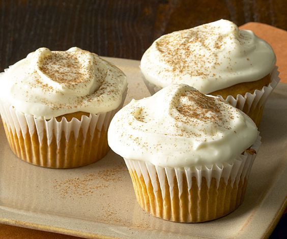 Sweet Potato Cupcakes with Maple Cream Cheese Frosting by Fine Cooking