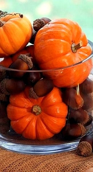 mini pumpkins & acorns....: