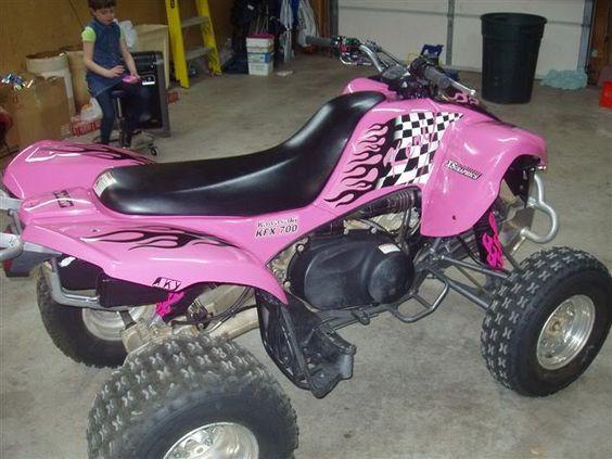 hot pink atv | pink plastic - kawasaki atv forum | quads