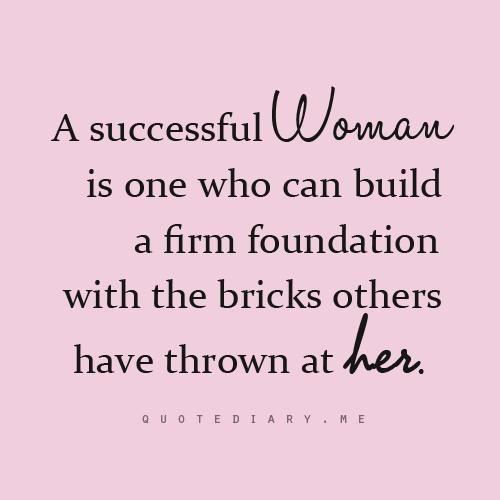 A successful woman...