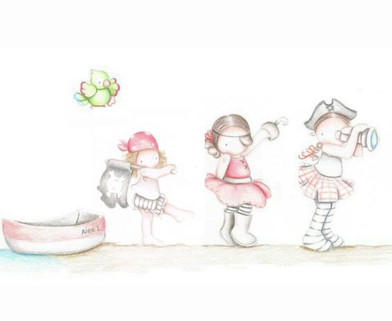 Decoraci n infantil il mondo di alex papel mural efecto - Papel pintado piratas ...