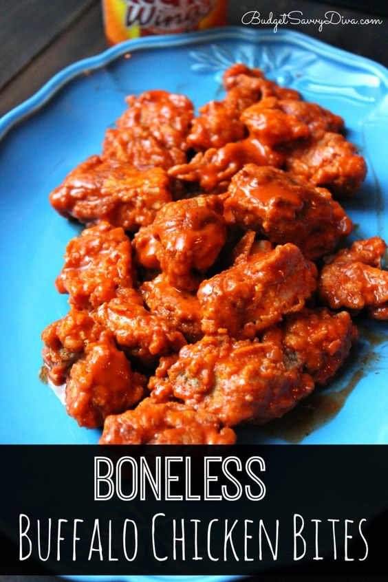 Super simple to make. Taste like the Buffalo Chicken Bites from Applebee's . Done in under 20 minutes. Boneless Buffalo Chicken Bites Recipe