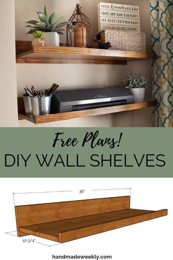 Diy Wall Shelves Wall Shelves Shelves In Bedroom Handmade Home