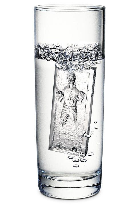 Han Solo in Carbonite Ice Cube Tray ($10)