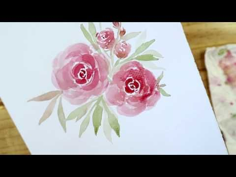 Loose Florals Rose Youtube Loose Watercolor Paintings