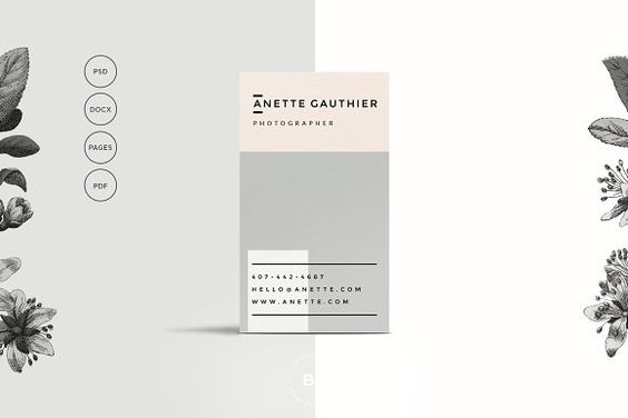 Business Card - Kelsey - Business Cards - Free Mock-up - A minimal - how to build your resume