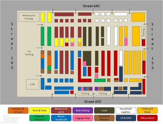 Bản đồ của khu chợ