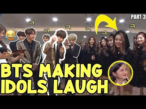 When Bts Can Make Idols Laugh Part 3 Bts Funny Moments Youtube Bts Funny Moments Funny Moments Bts Funny
