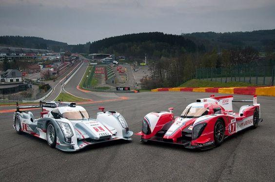 Toyota TS030 and Audi R18 E-Tron Quattro