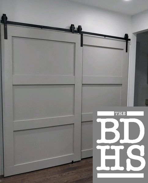 Our Exclusive Single Track Bypass C Barn Door Hardware Kit Allows