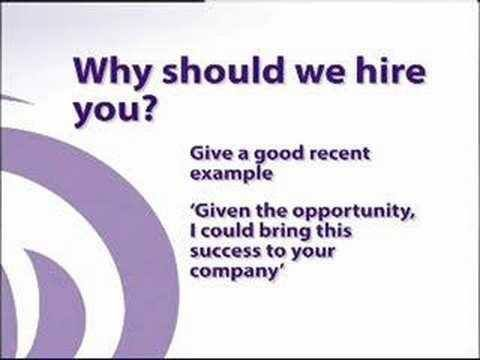 Be prepared to answer why they should hire you Job Search Tips - why should i hire you