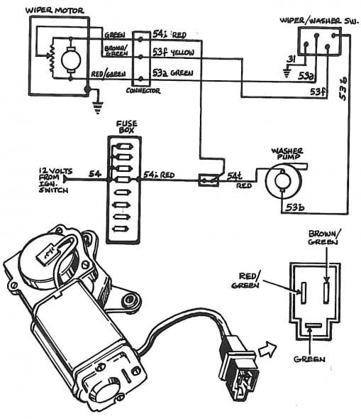 Trico Wiper Motor Wiring Diagram Windshield Wipers Electrical Diagram Wire