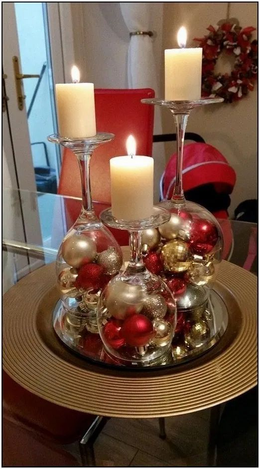 100 Cheap And Easy Christmas Centerpiece Ideas That You Can Make In A Jiff Hike N Di In 2020 Christmas Candle Decorations Dollar Store Christmas Christmas Decor Diy