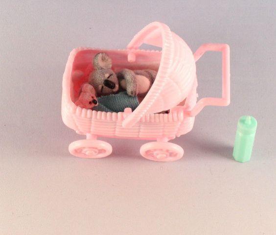 OOAK~Baby Koala~Security Blanket~Baby Buggy~Miniature~Dollhouse Toy~Artist Doll  #CherylBrown