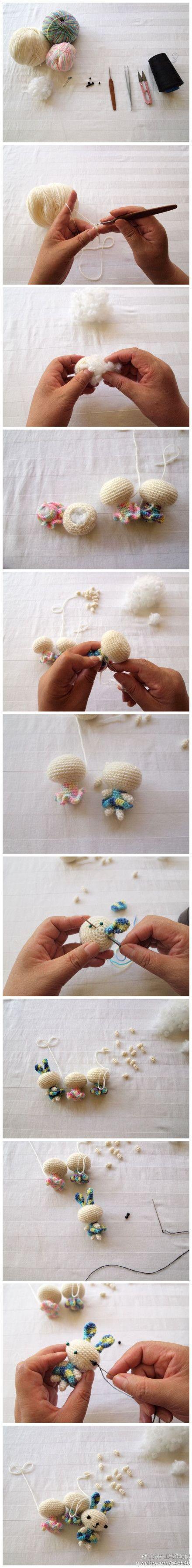 how to make a bunny amigurumi Animals Pinterest Toys ...