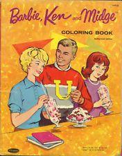 1963 BARBIE KEN MIDGE COLORING BOOK