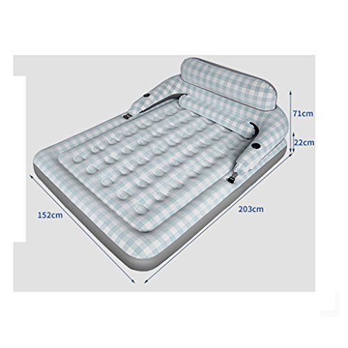Yd Lazy Bed Mediterranean Style Inflatable Bed 1 Person 2 People Home Inflatable Mattress Folding Outdoor Air Bed Inflatable Bed Inflatable Mattress Bed Sizes