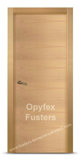 Puerta de madera para interior maciza modelo rub precio for Precio instalacion puertas interior