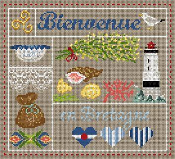 Bienvenue en bretagne cross stitch madame la fee pinterest point de croix bretagne et for Bienvenue en bretagne