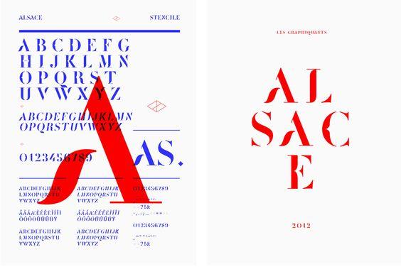 Alsace - Les Graphiquants  Une des plus belles typographies que j'ai jamais vu.  Les graphiquants sont très forts.