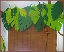 Jungle themed window treatment